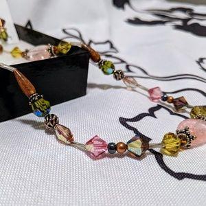 Beaded Jewelry set with Swarovski crystals